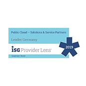 Positionierung in der ISG Provider Lens 2019 - Managed Public Cloud Services for Midmarket