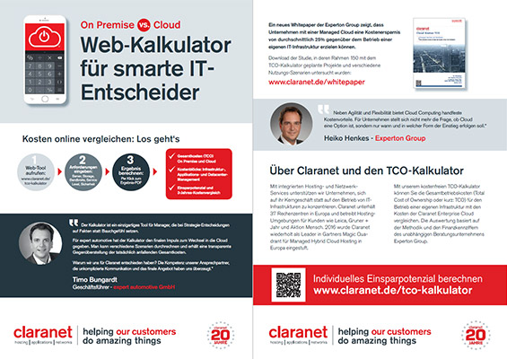 Cloud TCO Kalkulator