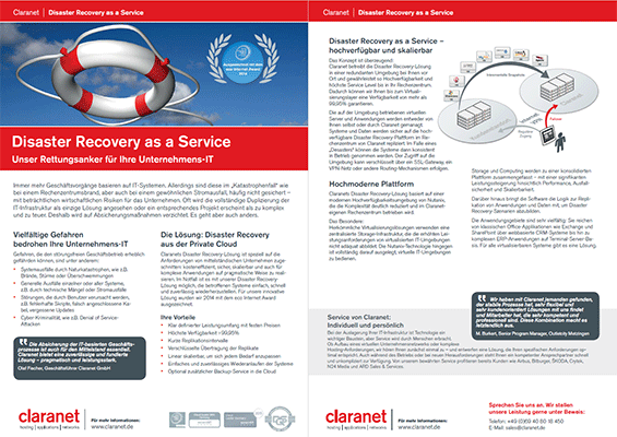 Disaster Recovery as a Service