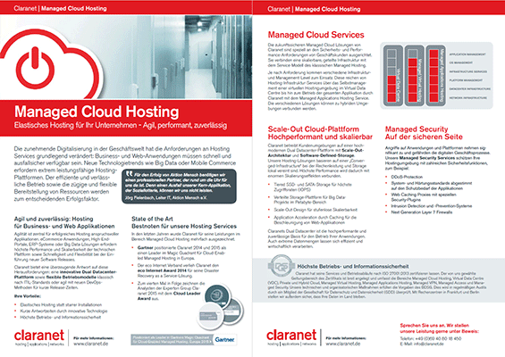 Claranet Managed Cloud Hosting