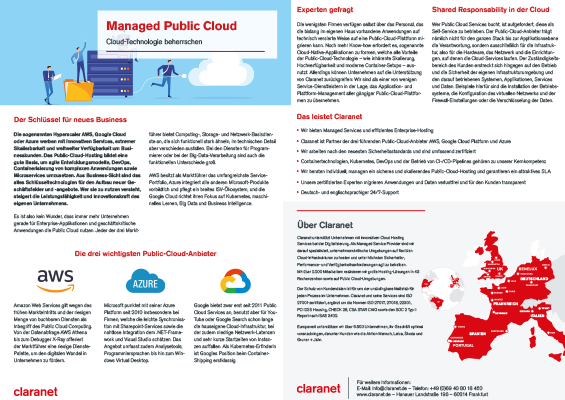 Managed Public Cloud: Cloud Technologie beherrschen